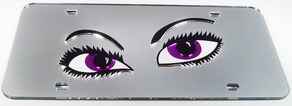 Eyes - purple/silver